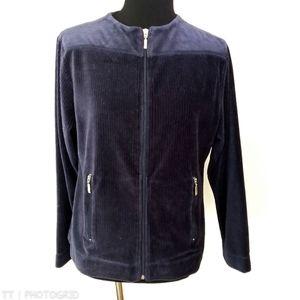 *3 for $15*Dress Barn navy velour zip up jacket